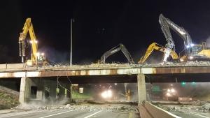 Brush St. Bridge Demolition, April 12-14, 2019