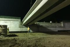Brush St. bridge WB beam installation, Aug 9-12, 2019