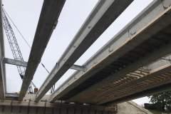 Milwaukee St. bridge beams installed: Oct 3-4, 2020