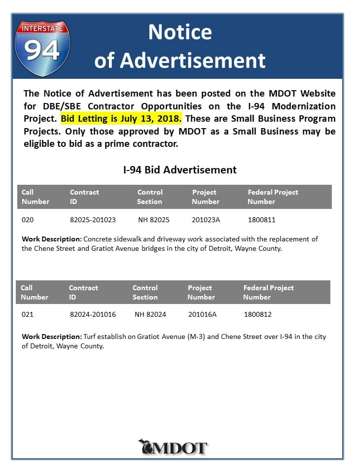 Notice of Advertisement